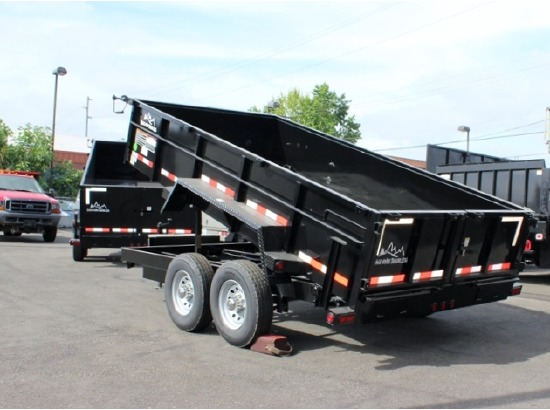 DMP14X26.14k.C. 2015 SNAKE RIVER 26 in. Tall Sided Dump Trailer from Town and Country Commercial Truck Sales, Kent (Seattle), WA