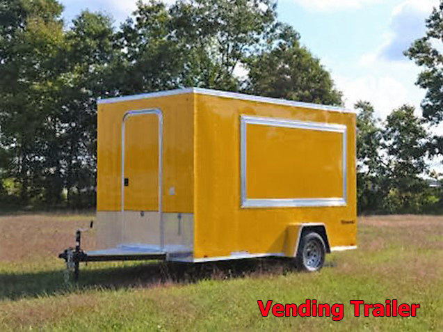 V.B. Vending trailers from Town and Country Truck and Trailer, Kent (Seattle) WA, selling utility trailers, dump trailers, equipment trailers, flatbed trailers, vending trailers, construction trailers, office trailers and gooseneck trailers