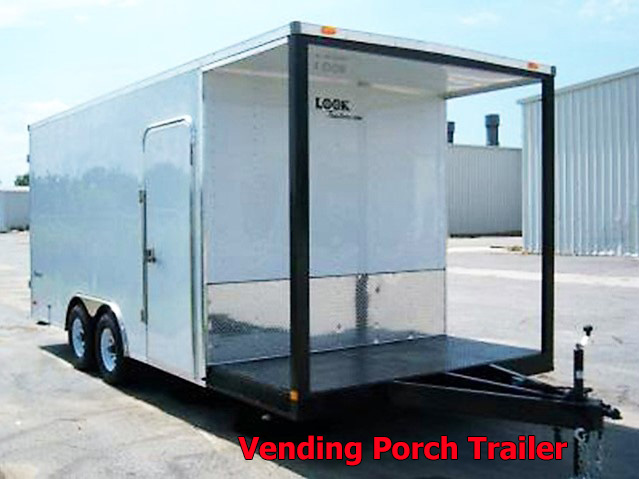 P.A. Vending trailers from Town and Country Truck and Trailer, Kent (Seattle) WA, selling utility trailers, dump trailers, equipment trailers, flatbed trailers, vending trailers, construction trailers, office trailers and gooseneck trailers