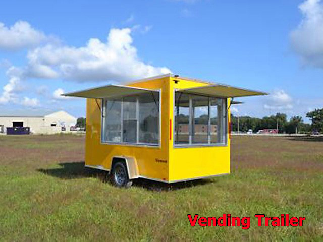 V.C. Vending trailers from Town and Country Truck and Trailer, Kent (Seattle) WA, selling utility trailers, dump trailers, equipment trailers, flatbed trailers, vending trailers, construction trailers, office trailers and gooseneck trailers
