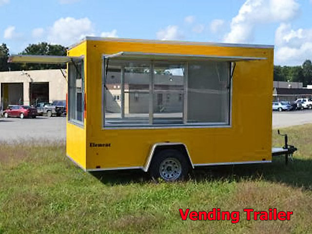 V.D. Vending trailers from Town and Country Truck and Trailer, Kent (Seattle) WA, selling utility trailers, dump trailers, equipment trailers, flatbed trailers, vending trailers, construction trailers, office trailers and gooseneck trailers