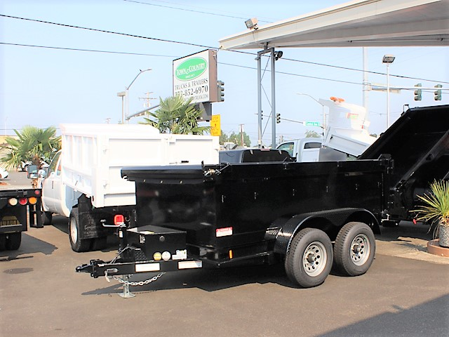 IN6FT.A. 2018 Innovative 6 ft. x 10 ft. x 30 in. tall sided dump trailer from Town and Country Commercial Truck and Trailer Sales, Kent (Seattle), WA