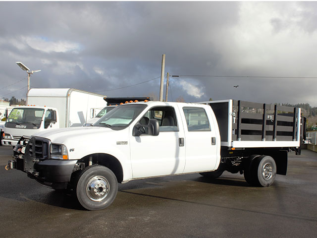 6374.C. 2003 FORD F350 Non-CDL 4x4 Crewcab Dump Truck from Town and Country Truck and Trailer Sales, Kent (Seattle), WA.