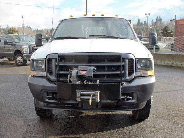 6374.E. 2003 FORD F350 Non-CDL 4x4 Crewcab Dump Truck from Town and Country Truck and Trailer Sales, Kent (Seattle), WA.